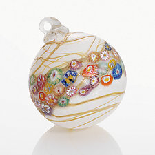 Opaline Garden by Ken Hanson and Ingrid Hanson (Art Glass Ornament)