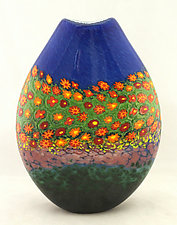 Poppy Pouch by Ken Hanson and Ingrid Hanson (Art Glass Vase)