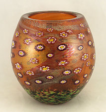 Aurora Island Series Bowl by Ken Hanson and Ingrid Hanson (Art Glass Vase)