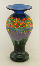 Poppy Lady Vase by Ken Hanson and Ingrid Hanson (Art Glass Vase)