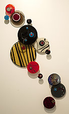 Space by Barbara Galazzo (Art Glass Wall Sculpture)