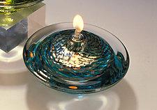 Saturn Oil Light by Danielle Blade and Stephen Gartner (Art Glass Oil Lamp)