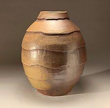 Large Carved Vase by Steve Murphy (Ceramic Vase)