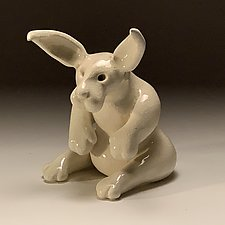 Early Bunny by Steve Murphy (Ceramic Sculpture)