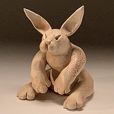 Early Bunny, Tough Bunny by Steve Murphy (Ceramic Sculpture)