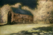 Salt Box on Hill by Elizabeth Holmes (Hand-Colored Photograph)