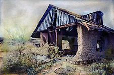 Vulture City Ghost Town Structure by Elizabeth Holmes (Hand-Colored Photograph)