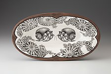 Oblong Serving Dish: Hermit Crab by Laura Zindel (Ceramic Platter)