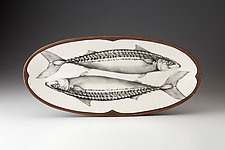 Platter: Mackerel by Laura Zindel (Ceramic Platter)