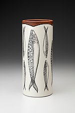 Large Vase: Sardines by Laura Zindel (Ceramic Vase)