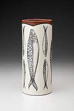 Large Vase: Sardines by Laura Zindel (Ceramic Vase)