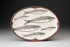 Oval Platter: Sardines by Laura Zindel (Ceramic Platter)