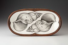 Rectangular Serving Dish: Snail Shell by Laura Zindel (Ceramic Platter)