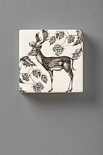 Wall Box: Fallow Buck by Laura Zindel (Ceramic Wall Sculpture)