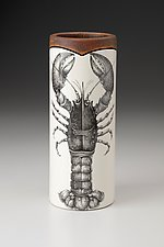 Small Vase: Lobster by Laura Zindel (Ceramic Vase)