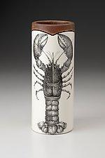 Small Vase: Lobster by Laura Zindel (Ceramic Vase)