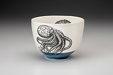 Octopus Bowl by Laura Zindel (Ceramic Bowl)