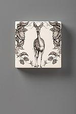 Wall Box: Fallow Doe by Laura Zindel (Ceramic Wall Sculpture)