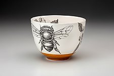 Small Honey Bee Bowl by Laura Zindel (Ceramic Bowl)