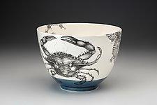 Blue Crab Bowl by Laura Zindel (Ceramic Bowl)