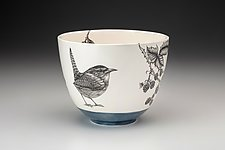 Medium Carolina Wren Bowl by Laura Zindel (Ceramic Bowl)