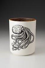 Utensil Cup: Octopus by Laura Zindel (Ceramic Utensil Cup)