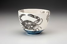Blue Crab Bowl by Laura Zindel (Ceramic Bowl)