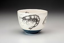 Small Shrimp Bowl by Laura Zindel (Ceramic Bowl)