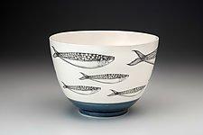 Sardines Bowl by Laura Zindel (Ceramic Bowl)