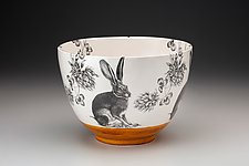 Large Hare Bowl by Laura Zindel (Ceramic Bowl)