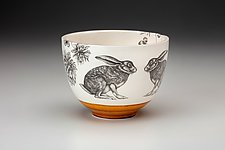 Small Hare Bowl by Laura Zindel (Ceramic Bowl)