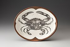 Small Serving Dish: Blue Crab by Laura Zindel (Ceramic Platter)