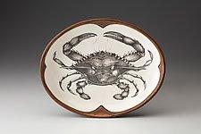 Small Serving Dish: Blue Crab by Laura Zindel (Ceramic Platter)