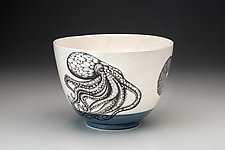 Octopus Bowl by Laura Zindel (Ceramic Bowl)