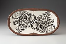 Rectangular Serving Dish: Octopus by Laura Zindel (Ceramic Platter)