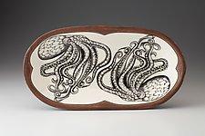 Rectangular Serving Dish: Octopus by Laura Zindel (Ceramic Platter)