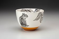 Small Chipmunk Bowl by Laura Zindel (Ceramic Bowl)