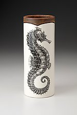 Small Vase: Seahorse by Laura Zindel (Ceramic Vase)