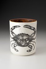 Utensil Cup: Blue Crab by Laura Zindel (Ceramic Vessel)