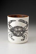Utensil Cup: Blue Crab by Laura Zindel (Ceramic Vessel)