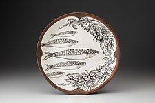 Small Round Platter: Sardines by Laura Zindel (Ceramic Platter)