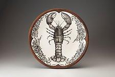 Large Round Platter: Lobster by Laura Zindel (Ceramic Platter)