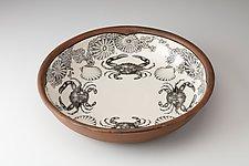 Pasta Bowl: Blue Crab by Laura Zindel (Ceramic Bowl)