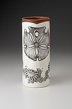 Large Vase: Sand Dollar by Laura Zindel (Ceramic Vase)