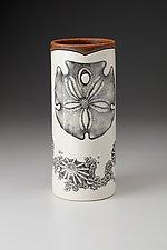 Large Vase: Sand Dollar by Laura Zindel (Ceramic Vase)
