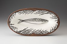 Oblong Serving Dish: Sardines by Laura Zindel (Ceramic Platter)