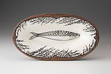 Oblong Serving Dish: Sardines by Laura Zindel (Ceramic Platter)