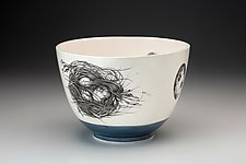 Quail Nest Bowl by Laura Zindel (Ceramic Bowl)