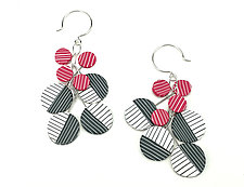 Color Cluster Earrings by Bonnie Bishoff and J.M. Syron (Polymer Clay Earrings)