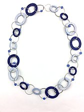 Graphic Chain by Bonnie Bishoff and J.M. Syron (Polymer Clay Necklace)